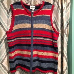 Breckenridge Woman's Sweater Vest ZIP Up Colors Lg